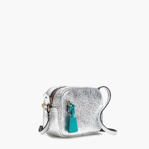 Mini Signet Bag in Italian Metallic Leather